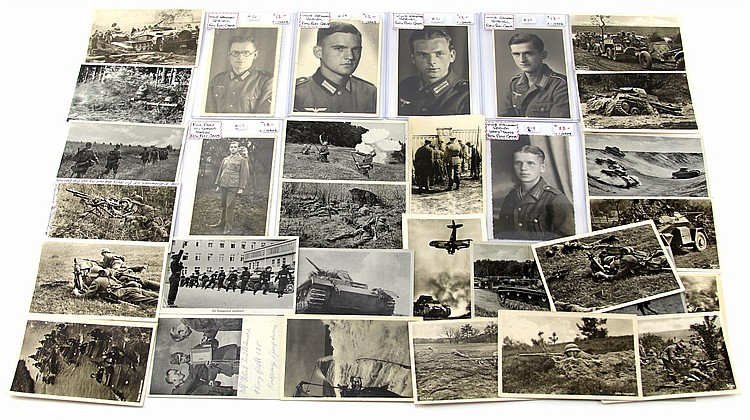 WWII GERMAN PHOTO POST CARD LOT