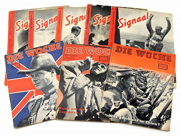 WWII GERMAN MAGAZINE LOT SIGNAL DIE WOCHE