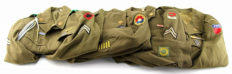 WWII US ARMY UNIFORM LOT