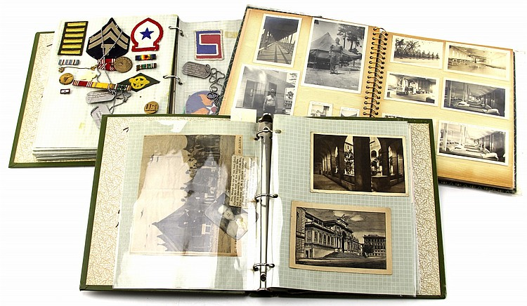 LARGE WWII ARCHIVE OF US ARMY MEDIC
