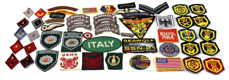 Lot 9112: OVER 40 MIXED WORLD PATCHES