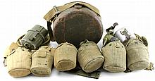 Lot 9116: WWII US WEB BELT CANTEEN WATER BAG LOT
