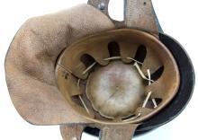 Lot 9117: WWII GERMAN NSKK LEATHER MOTORCYCLE HELMET