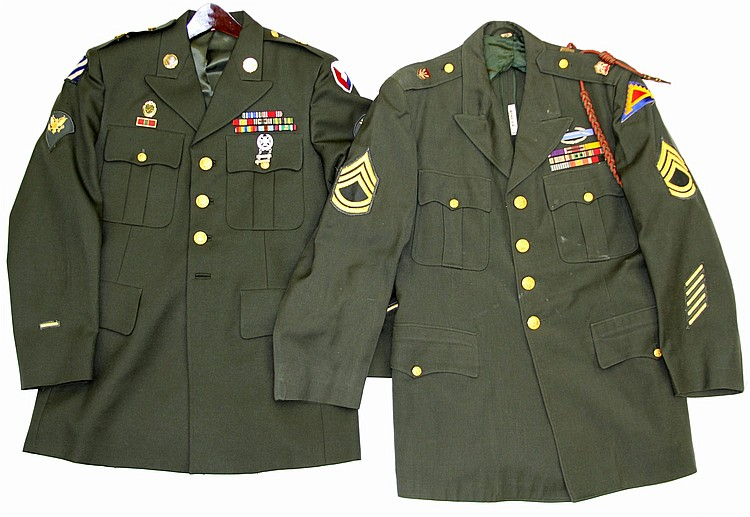 WWII US ARMY UNIFORM LOT OF TWO