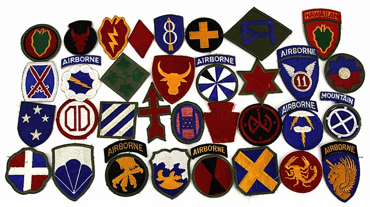 34 US ARMY DIVISION PATCHES