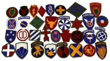 Lot 9131: 34 US ARMY DIVISION PATCHES