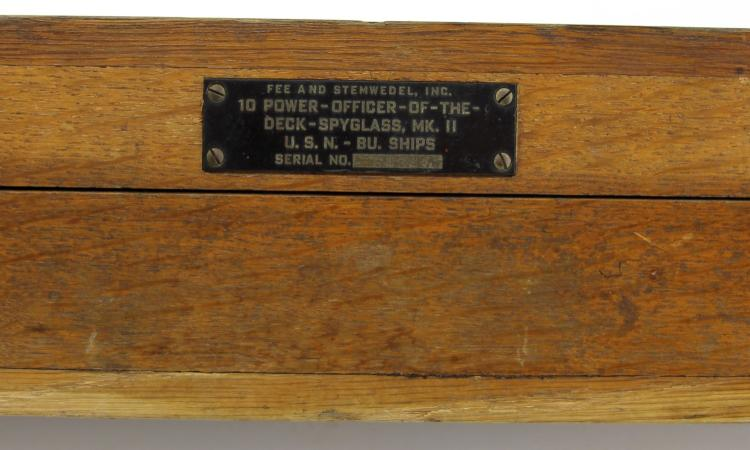 Lot 9133: WWII US NAVY MKII OFFICER OF THE DECK SPY GLASS