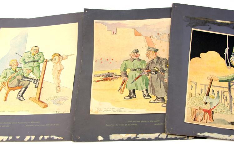 Lot 9138: WWII PRO-ALLY OCCUPIED GERMANY PROPAGANDA PRINTS