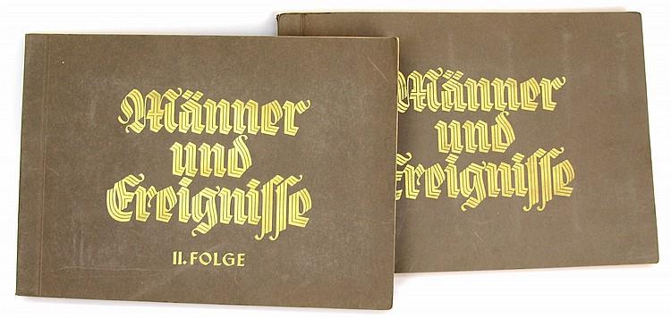 WWII GERMAN 2 ALBUM SET MANNER UND EREIGNISSE