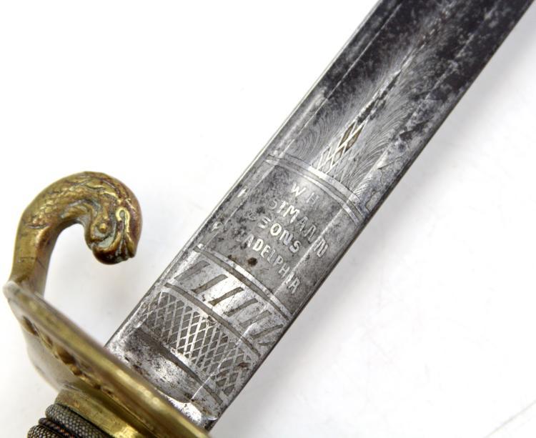Lot 9141: 19th CENTURY HORSTMANN US NAVY SWORD