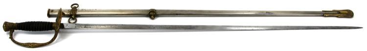 Lot 9142: US MODEL 1860 STAFF & FIELD SWORD W REED & SONS