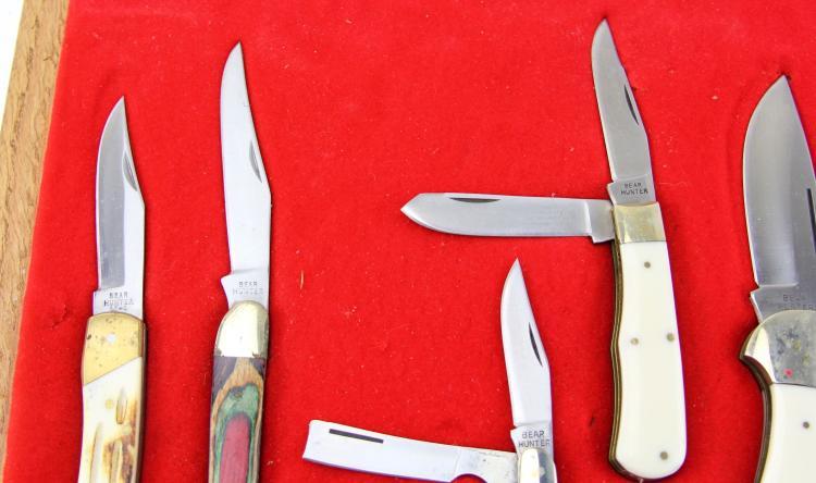 Lot 9147: BEAR HUNTER SEVEN KNIFE CASED SET