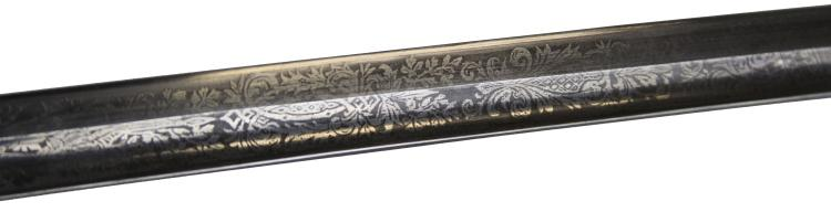 Lot 9149: WWI ETCHED IMPERIAL GERMAN ARMY SWORD BY WK&C