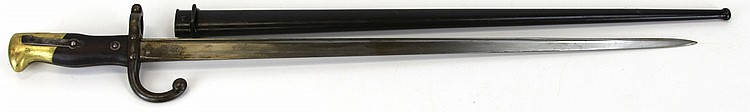 Lot 9150: FRENCH MODEL 1874 GRAS BAYONET ST ETIENNE 1877