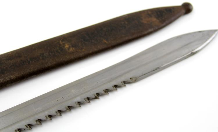 Lot 9153: SWISS MODEL 1914 PIONEER SAWBACK BAYONET