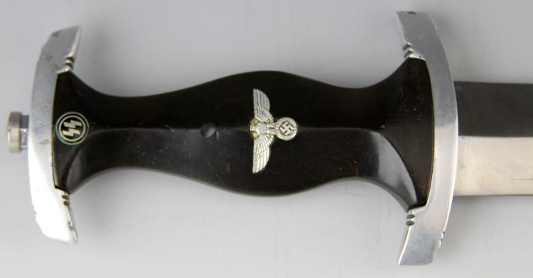 Lot 9158: WWII GERMAN SS DAGGER RZM