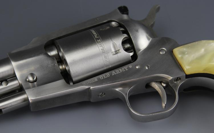 Lot 9168: RUGER OLD ARMY STAINLESS .44 WITH CONVERSION CYL