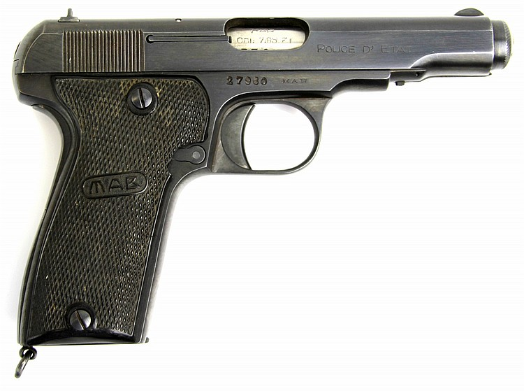 FRENCH MAB MODELE D 7.65 PISTOL STATE POLICE