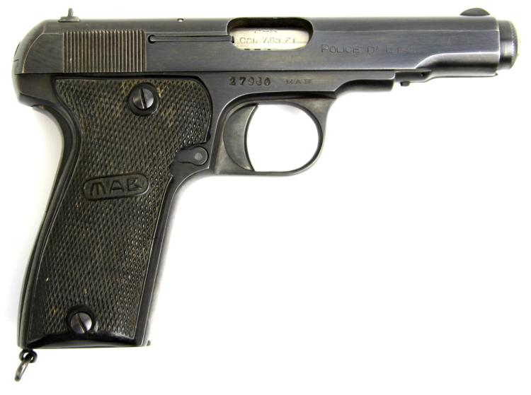 Lot 9170: FRENCH MAB MODELE D 7.65 PISTOL STATE POLICE