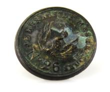 Lot 9013: FRENCH PHOENIX INDIAN TRADE BUTTON