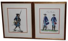 Lot 9031: 4 FRAMED EUROPEAN SOLDIER PRINTS