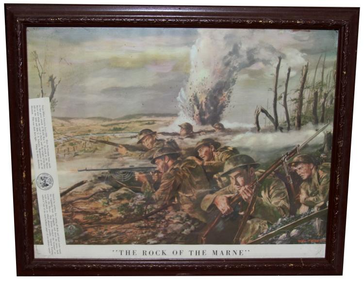 Lot 9045: FRAMED MILITARY POSTER LOT