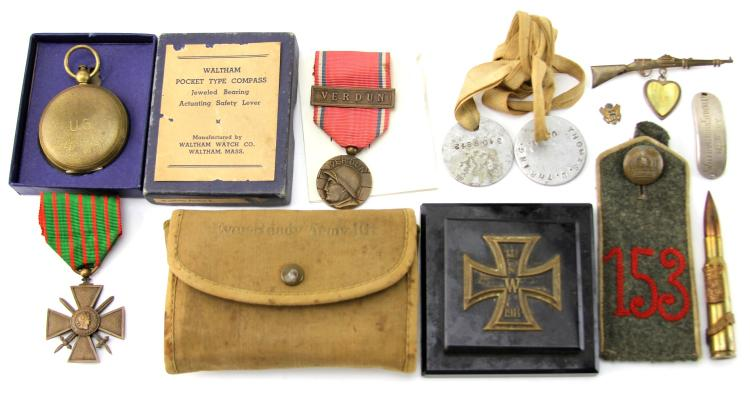 GROUPING OF WWI RELATED ITEMS MIXED COUNTRY