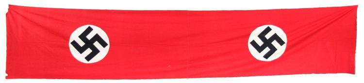 WWII GERMAN DOUBLE NSDAP BANNER
