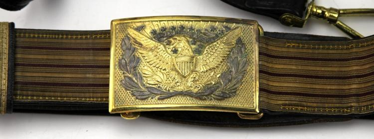 Lot 9025A: US INDIAN WARS ERA SWORD BELT LOT OF 3