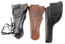 Lot 9038: THREE MILIARY HOLSTERS CAVALRY & M1916