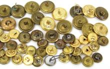 Lot 9041: ANTIQUE MILITARY BUTTON COLLECTION