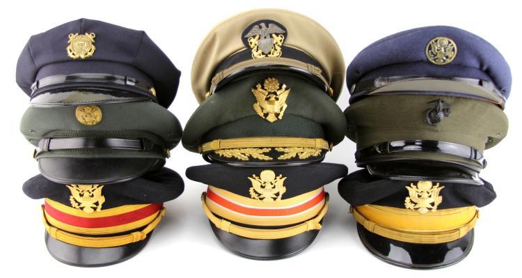 US VISOR CAP LOT OF 9