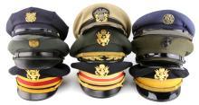 Lot 9060A: US VISOR CAP LOT OF 9