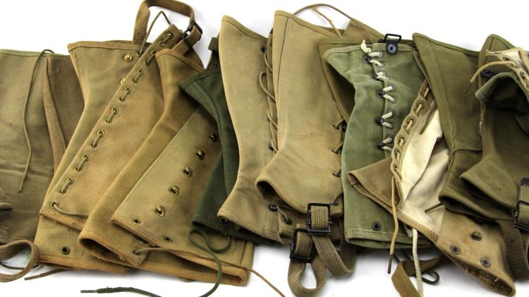 Lot 9064: WWI US CANVAS GAITER LOT