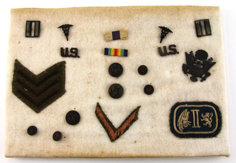 Lot 9071A: WWI BRITISH MILITARY CROSS ARCHIVE OF US SOLDIER