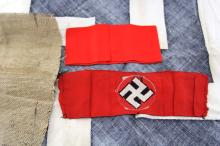 Lot 9092: WWII GERMAN CLOTH ITEMS LOT
