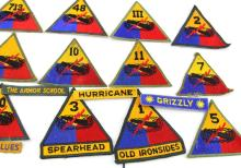 Lot 9096: 18 US ARMY ARMORED DIVISION PATCHES