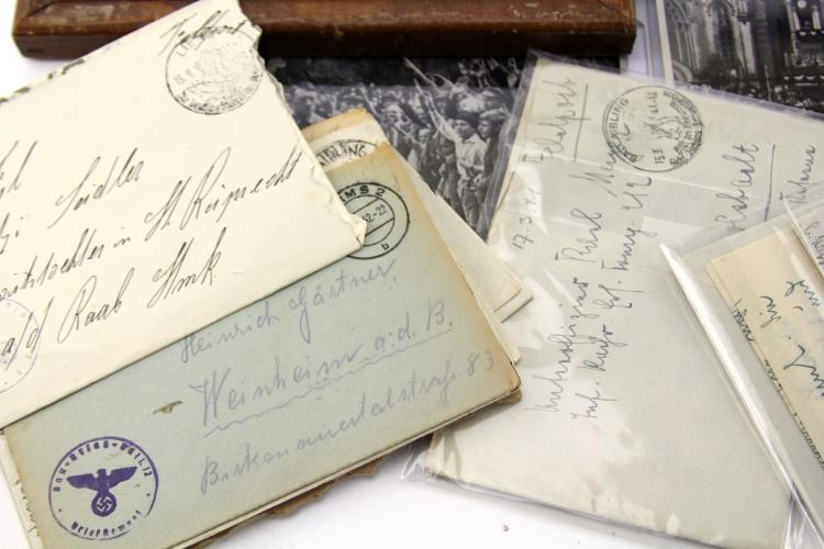 Lot 9104: WWII GERMAN PHOTOS LETTERS & EPHEMERA