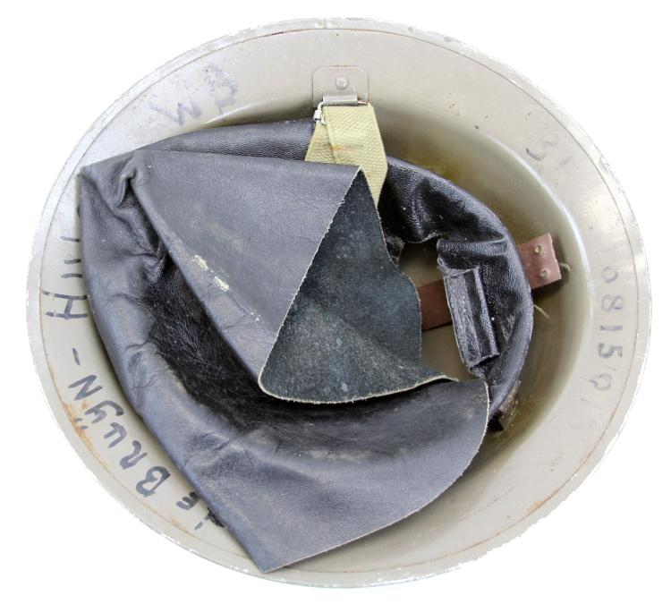 Lot 9125: BRITISH WWII HELMET LOT OF TWO