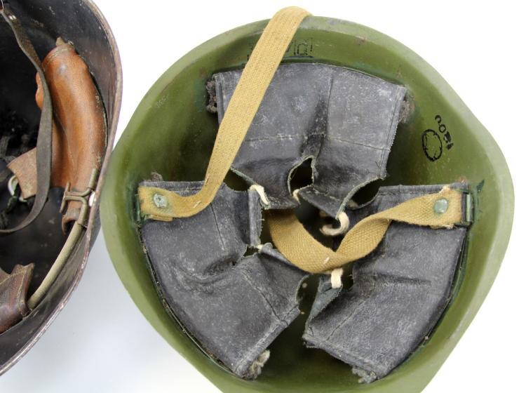 Lot 9126: 3 WWII STEEL HELMETS SWISS ITALIAN USSR