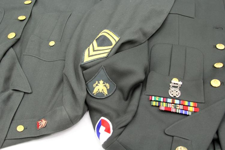 Lot 9128: WWII US ARMY UNIFORM LOT OF TWO