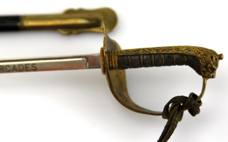 Lot 9151A: BRITISH NAVY S.S. ORCADES MINIATURE SWORD