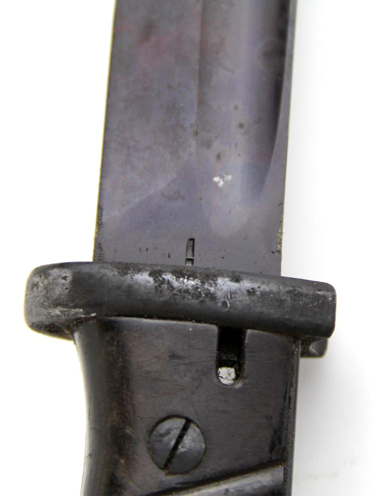 Lot 9155A: WWII GERMAN K98 BAYONET WITH FROG