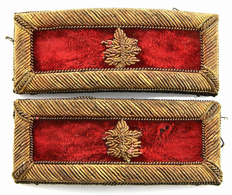 CIVIL WAR ERA US ARTILLERY OFFICER SHOULDER BOARDS