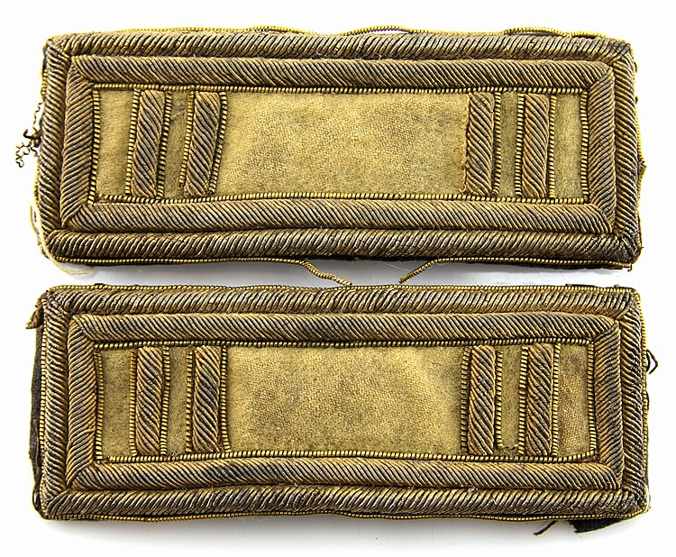 CIVIL WAR ERA US CAVALRY OFFICER SHOULDER BOARDS