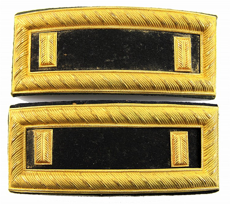 INDIAN WARS ERA US OFFICER SHOULDER BOARDS