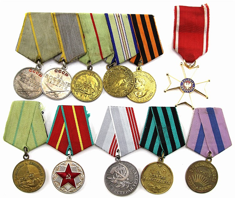 LARGE LOT OF SOVIET BLOC COLD WAR MEDALS