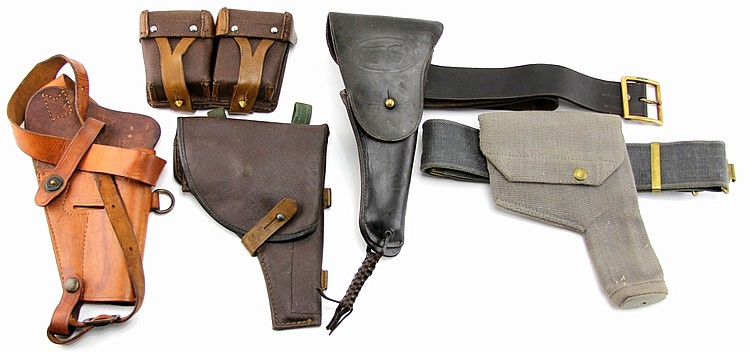 US RUSSIAN HOLSTER GUN BELT LOT