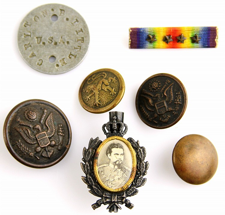 WWI FRANCIS FERDINAND PIN AND NAMED GROUPING