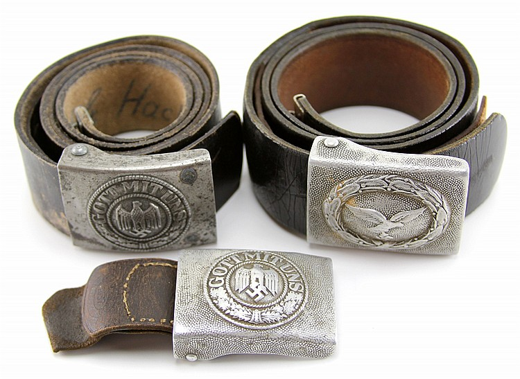 WWII GERMAN BELT LOT OF THREE